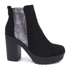 Černá Semišové kožené boty RBS-8 Black