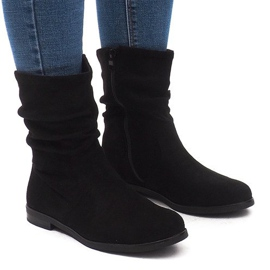 Černá Izolované boty Jodhpur boty L7355 Black