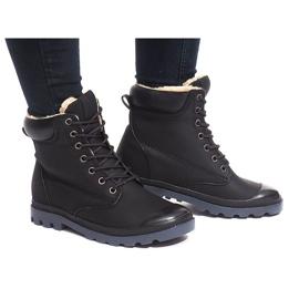 Černá Izolované boty X5903 Black