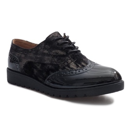 Černá Černé semišové boty Adele