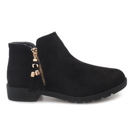 Černá Semišové boty Jodhpur 8565 Black