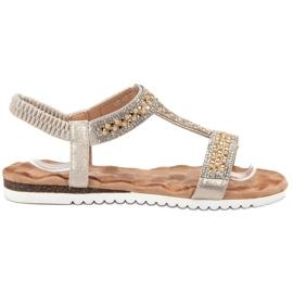 Emaks Zdobené dámské sandály žlutý