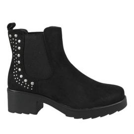 Kayla Shoes černá Černé izolované vysoké podpatky 88048