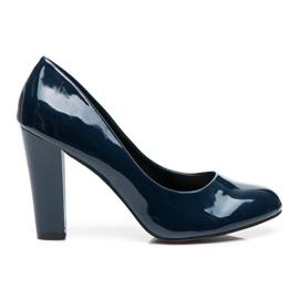 Sweet Shoes modrý Lakované čerpadla na baru