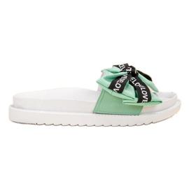 Jumex zelená Flip Flops s láskou luk