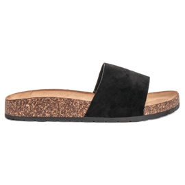 Bello Star černá Klasické černé pantofle