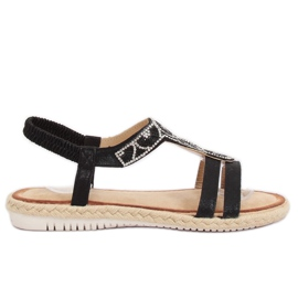 Sandály espadrilles černá CO-78 černá