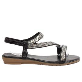 Sandály asymetrické černá KM-33 černá