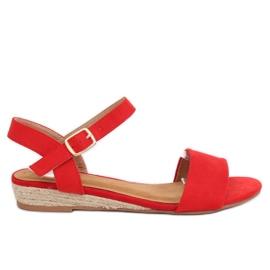 Sandály espadrilles červené 9R73 červená