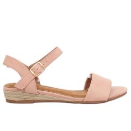 Růžový Sandály espadrilles pink 9R73 Pink