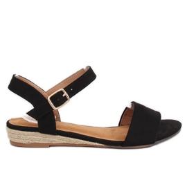 Sandály espadrilles černá 9R73 černá