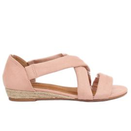 Růžový Sandály espadrilles pink 9R72 Pink