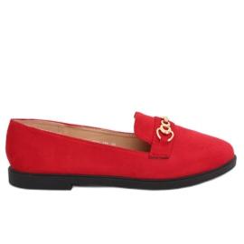 Červená Dámské mokasíny červené 1631-123 Red