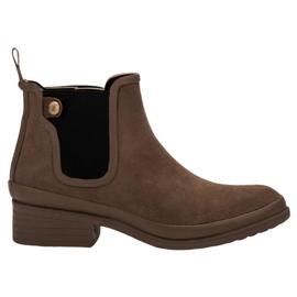 Kylie hnědý Botičky Jodhpur boty