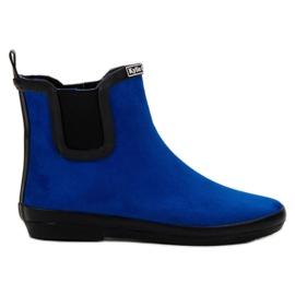 Kylie Suede Leather Wellies modrý