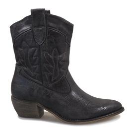 Šedá Šedé cowgirl boty 10601-1