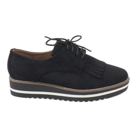 Černá Černé krajkové boty A510-2