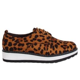 Moccasiny pro ženy leopard C-7225 Leopard Print hnědý