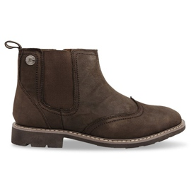 Hnědý Vysoce izolované boty vázané 4682 Hnědé