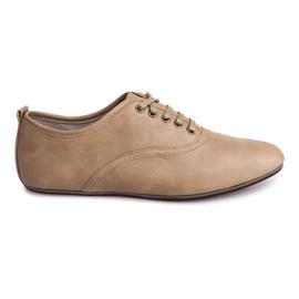 Hnědý Elegantní boty Jazzówki 8312 Béžová