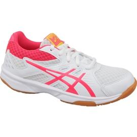 Volejbalové boty Asics Upcourt 3 Gs Jr 1074A005-104 bílá bílá