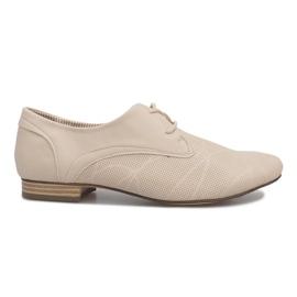 Béžové boty Jazz Simone hnědý