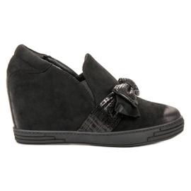 Vinceza Svěráky klínové boty černá