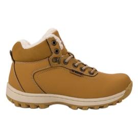 Ax Boxing žlutý Izolované trekingové boty