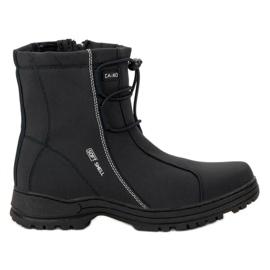 Ax Boxing černá Černé sněhové boty