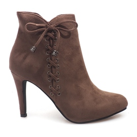 Suede Ankle Boots 66-98 Khaki zelená