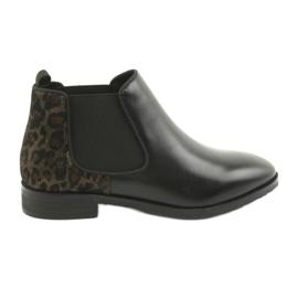 Black Boots Jodhpur Caprice 25327 černá