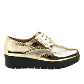 Žlutý TL-60 zlaté krajkové boty