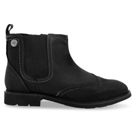 Černá Vysoce izolované nízké vázané boty 4682 černé