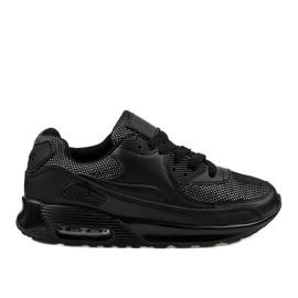 Černé sportovní boty tenisky B306A-61S černá