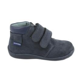 Chlapecká obuv se suchým zipem Velcro Mazurek 341 modrá válečné loďstvo