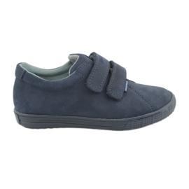 Válečné loďstvo Chlapecké boty Velcro Mazurek 268 tmavě modrá