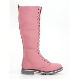 Seastar růžový Šněrování dámské boty