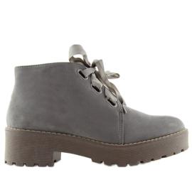 Šedá Dámské boty boty šedé LL219 šedé
