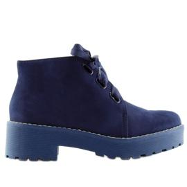 Dámské boty boty tmavě modré LL219 Blue válečné loďstvo