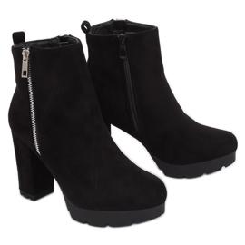 Černá Black Boots na příspěvek black 0-282 Black