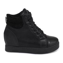 Wedge Sneakers 1651 Černá