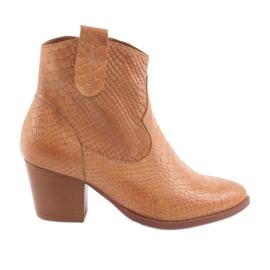 Hnědý Dámské boty Anabelle 1466 Camel Croko