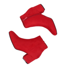 Nízké podpatky kotníkové boty YQ216P Červená
