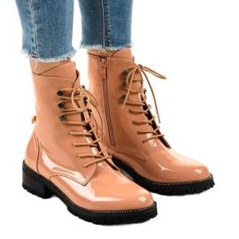 Růžové dámské vysoké boty XW37278 růžový