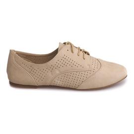 Hnědý Prolamované jazzové boty nízké 219 béžové