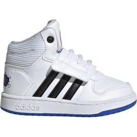 Bílá Obuv Adidas Hoops Mid 2.0 I Jr EE8551