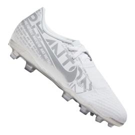 Fotbalová obuv Nike Phantom Vnm Academy Fg Jr AO0362-100 bílá bílá