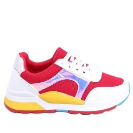 Vícebarevná dámská sportovní obuv 19017 červená vícebarevný
