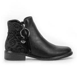 Filippo černá Stylové zipové boty