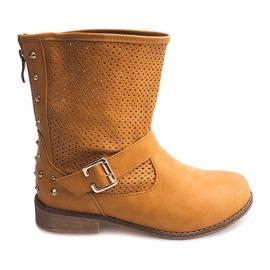 Prolamované boty s jezdcem TLT1302 hnědý